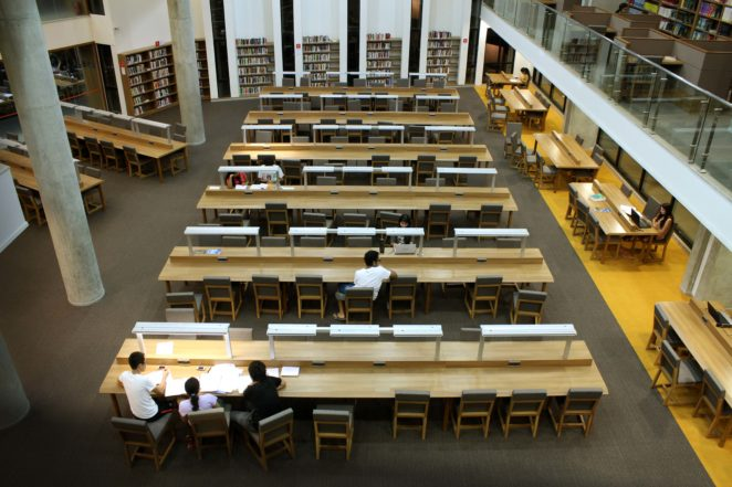 Reading Atrium at the FLAME University Library